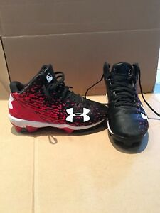 Youth size 1.5 Under Armour Baseball Cleats