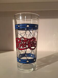 Vintage Pepsi Glasses - stained glass x10