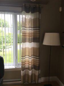 4 panneaux de rideau
