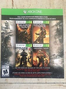 GEARS OF WAR COLLECTION - 4 games $10 for Xbox one