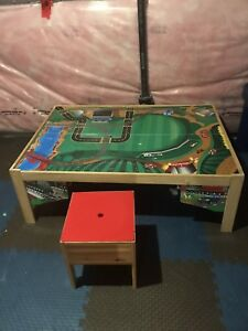 Train table, includes storage bench