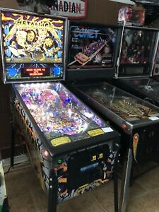 Metallica Pinball Machine Stern Rock Music Toronto