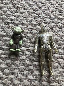 STAR WARS - Yoda and C3PO figurines