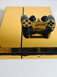PS4 gold colour +controller ,5 games ,headset and  cables