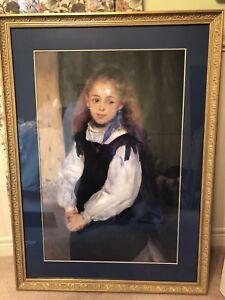 Framed Renoir print of Mademoiselle Legrand