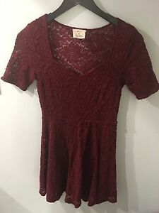 Small Maroon Lace Dress