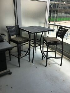 High end patio furniture - perfect for condo living.