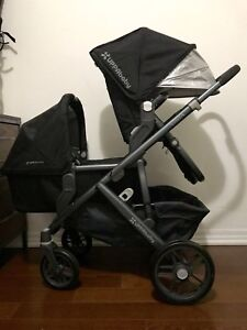 Nearly new UPPAbaby vista stroller and bassinet