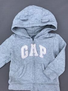 Baby gap toddler girl hoodie with bear ears. Size 18-24 months