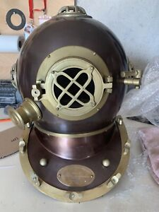 Reproduction Antique Diving Helmet with copper Finish