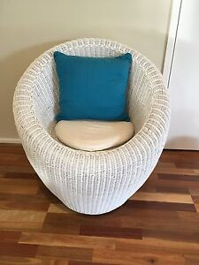 Cain/wicker chair Glenmore Park Penrith Area Preview