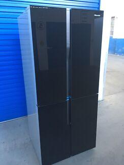 Hisense Glass 4 Door Fridge freezer (LIKE NEW)