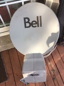Satellite dish with LNB