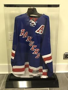 Signed Dan Gerardi Rangers Jersey in Display Case