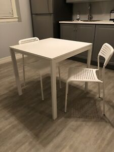IKEA Small kitchen or dining table with 2 chairs