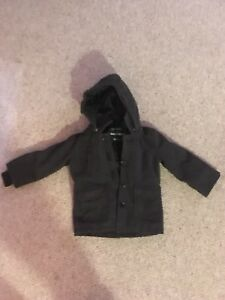 Boys grey wool peacoat