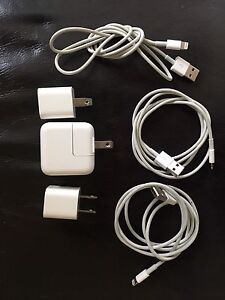 Apple Brand Power Adaptors and Lightning Cables