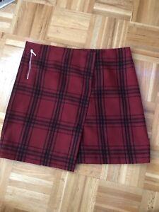 Plaid winter skirt for women