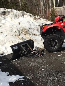 Honda atv plow