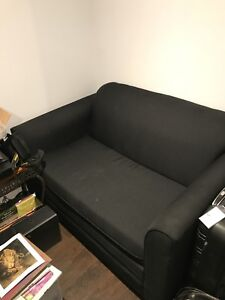 Black Pull out couch with mattress