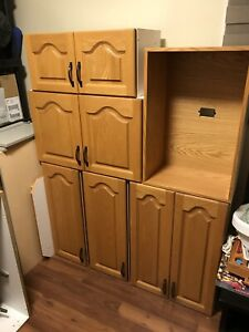 Oak Kitchen cupboards