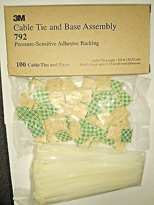 3m Cable Tie And Mounting Base Assembly 792 100 Pieces Usa