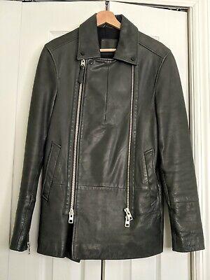 All Saints Men Leather Jacket XS