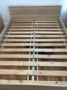 malm ikea queen bed frame and mattress