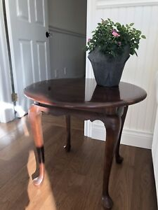 Pair of Solid Wood Gibbard Antique End Tables