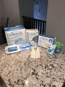 Dr. Brown's baby bottle set with accessories