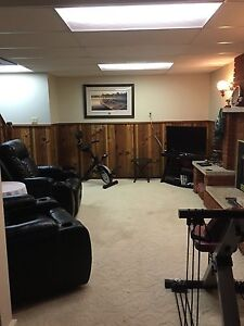 Furnished 1 Bedroom Basement Area for short term Rental