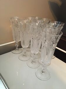 10 flute a champagne crystal