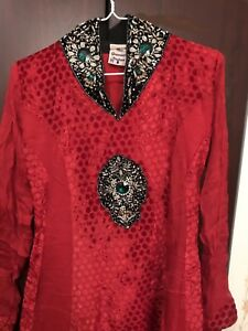 Pakistani/indian red and black dress $80 obo medium size