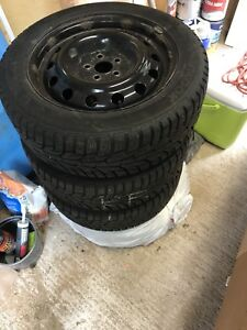 """Like New 16"""" Winter Tires with Rims"""