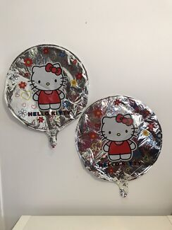 2 x Hello Kitty helium Foil balloons Decoration Birthday