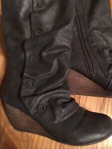 Women's wedge boots -- size 9