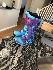 Fox comp 5 dirt bike boots special edition size 9 mens