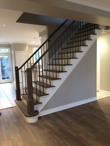 Stair Staining and Refinishing  (Ajax, Pickering)