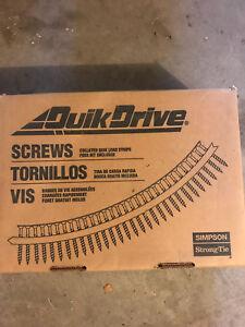"""Quik Drive #8 x 2.5"""" twin lead wood screws w/nibs"""
