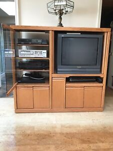 Tv cabinet and equipment