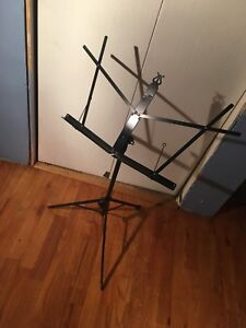 Compact music sheet stand