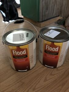 Exterior stain: dark grey, brand new cans (2)