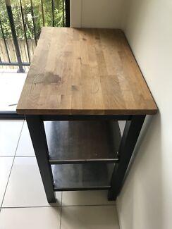 Ikea STENSTORP Kitchen Trolley (Black/Brown/Oak)