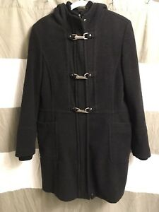 Women's dark grey pea coat