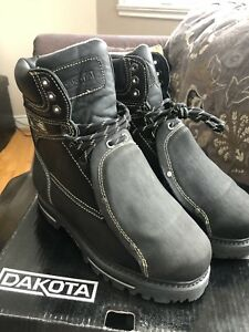 "Dakota  8 "" work boots with lace guard"