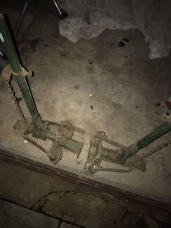 Floor dog clamps