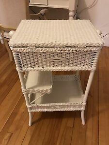 Wicker Sewing  cabinet / side table