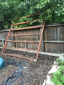 9 x9 foot steel structure great for deck or hot tub