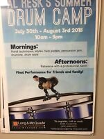 Summer Drum Camp July30-Aug. 3rd