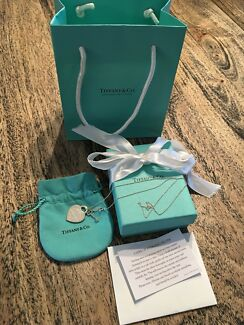 Tiffany & Co. Heart/Key Pendant /chain with gift receipt